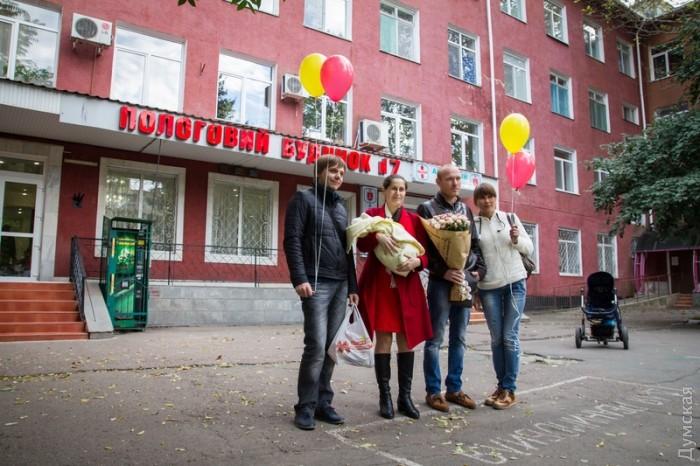 У погибшего одесского милиционера родился сын «фото»
