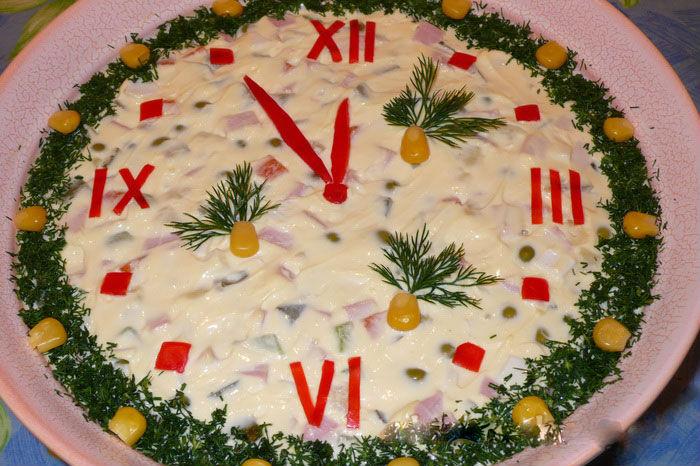 Красивый и простой салат на новый год