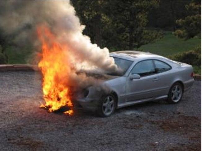 Одесса: загорелся автомобиль BMW «фото»