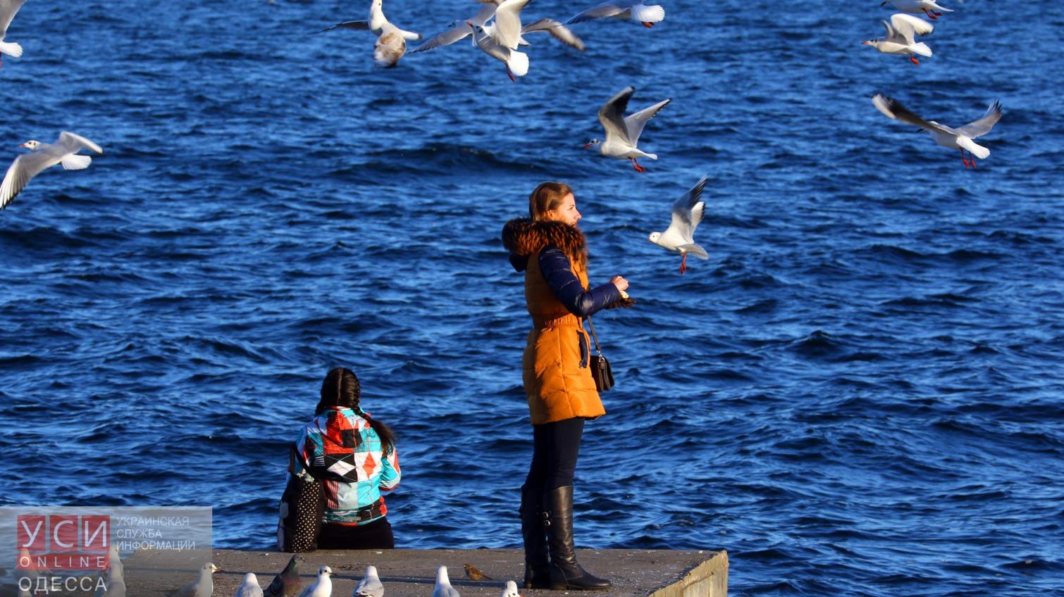 Одесситы не могут отказать себе в зимней прогулке у моря «фото»