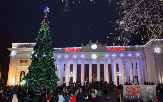 Главные ёлки Одессы в новогоднем наряде (фото) «фото»