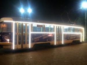 новогодний трамвай
