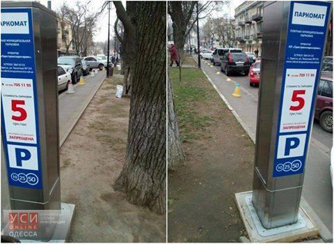 Паркоматы Дубенко уничтожают одесские газоны «фото»