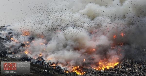 В Одесской области горела мусорная свалка «фото»