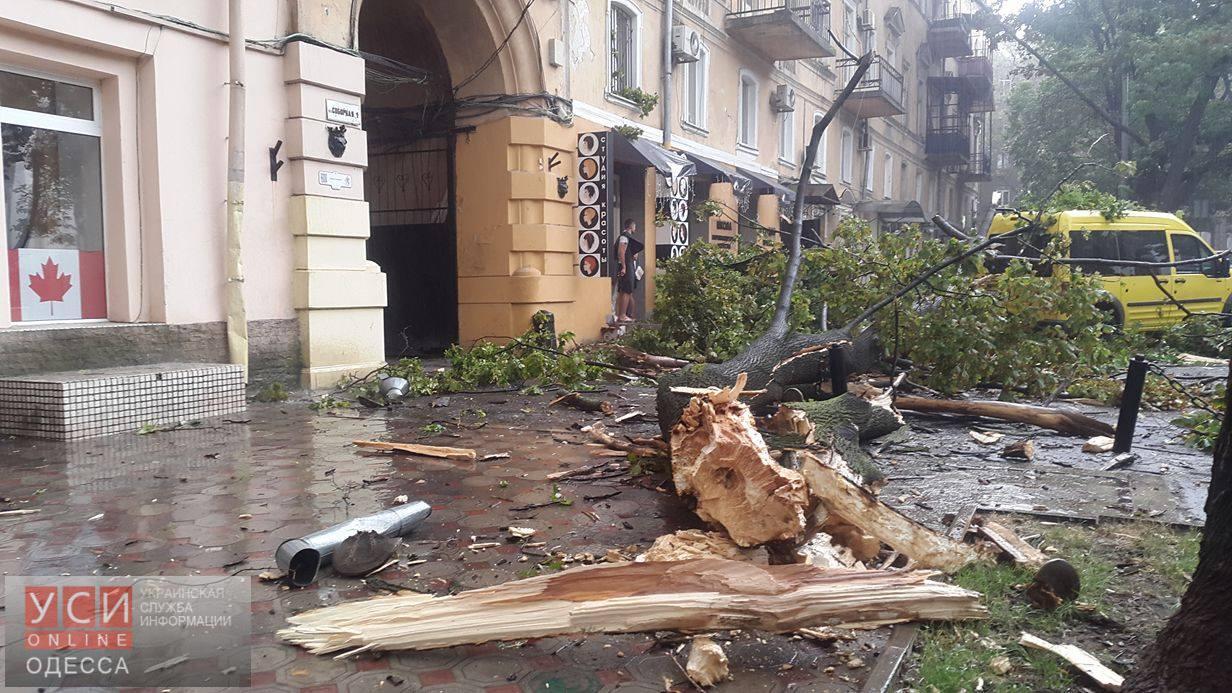 НаОдесскую область обрушилась мощная гроза сградом
