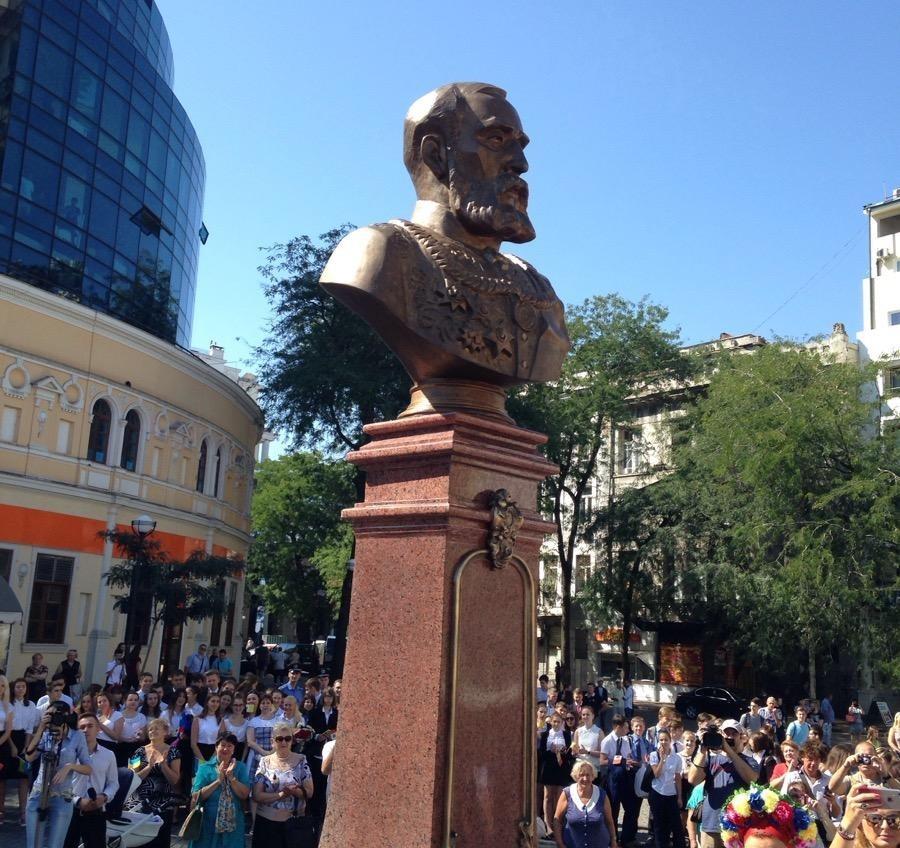 Памятник Маразли открыли на Греческой площади (фото) «фото»