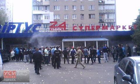 ВЧерноморске неизвестные разгромили супермаркет