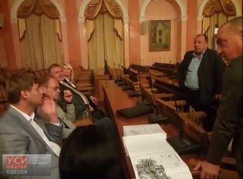 Одесские депутаты тайно собрались перед сессией (видео) «фото»