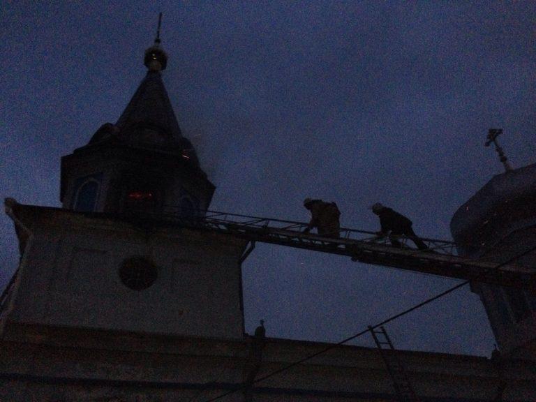 В Одесской области горел храм