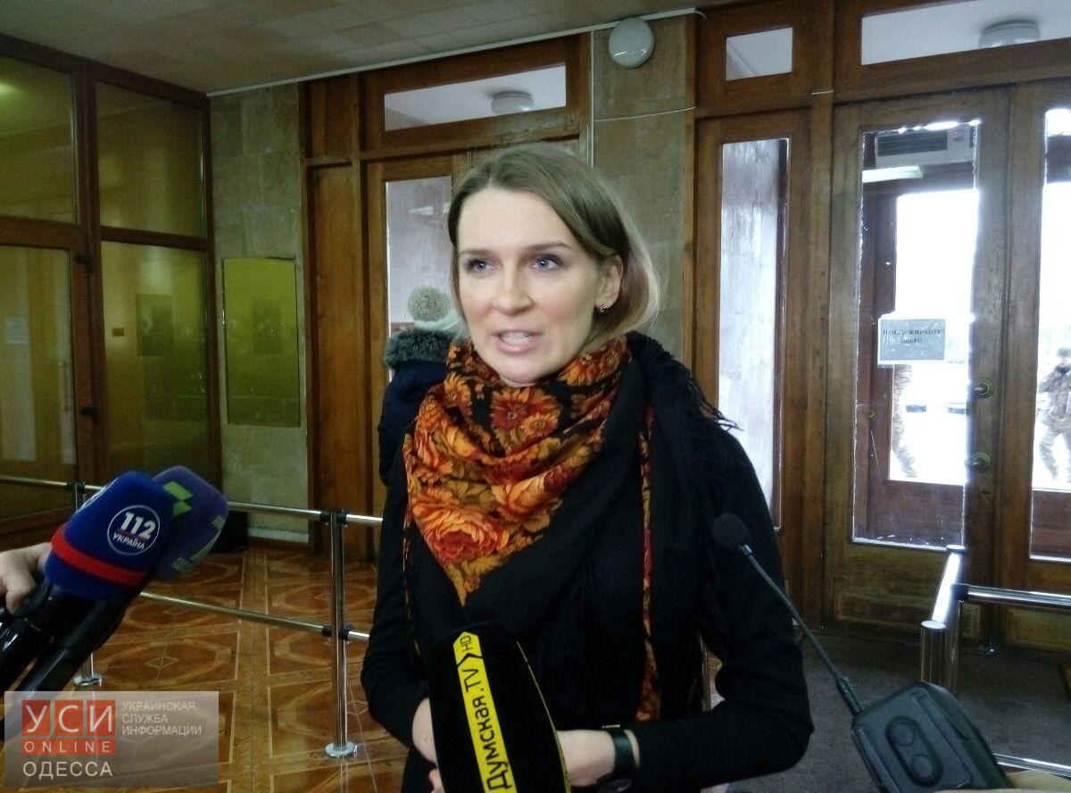 Бобровская объявила бойкот Одесскому облсовету и обещает «заморозить» все бюджетные растраты на ближайшие 3 месяца