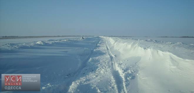 """Еще один участок трассы """"Одесса-Рени"""" закрыт для транспорта из-за погодных условий"""