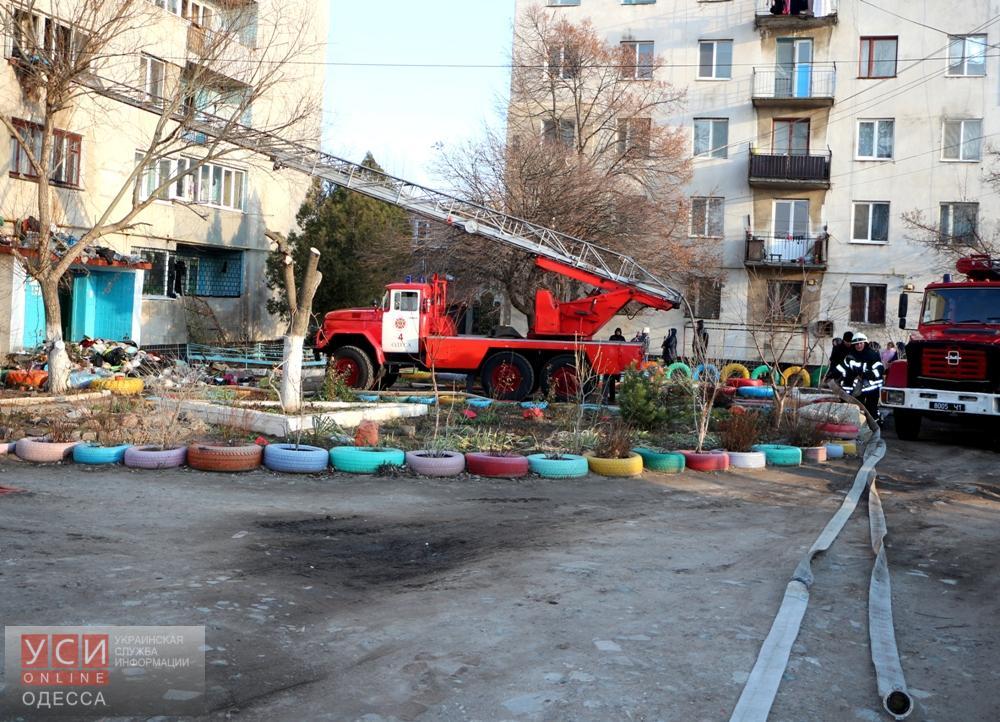 ВОдессе впроцессе ликвидации пожара спасли женщину
