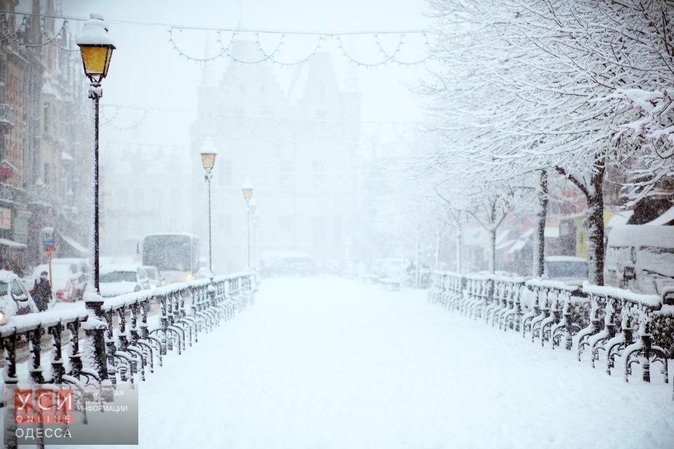 В Одессе снова штормовое предупреждение: ожидается метель