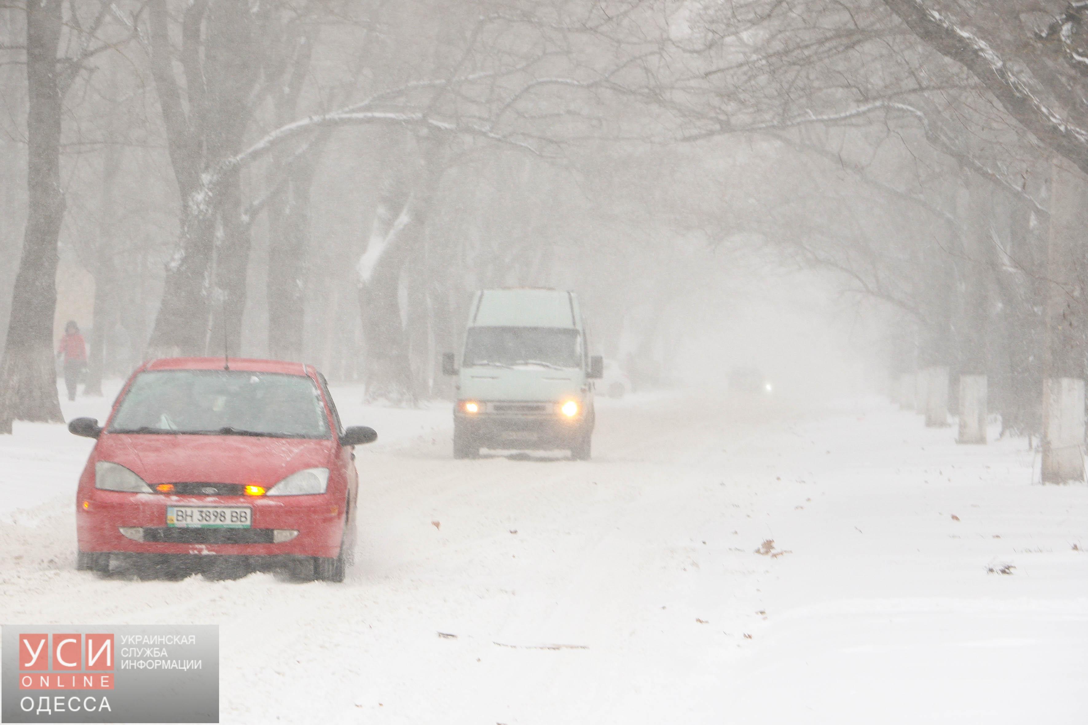 Одесса переживает сильный снегопад (фото)