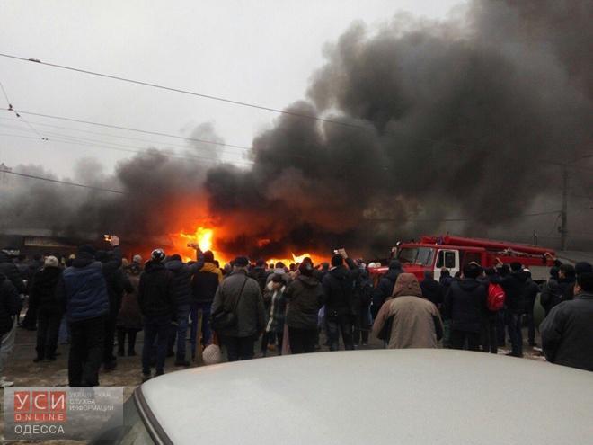 ВОдессе горел рынок «Привоз»