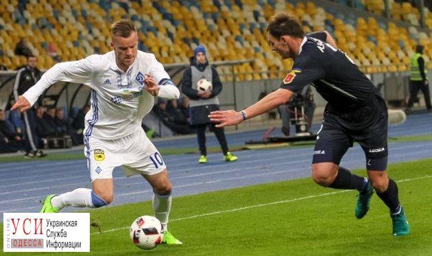 «Динамо» крупно обыграло «Черноморец» вматче чемпионата Украинского государства