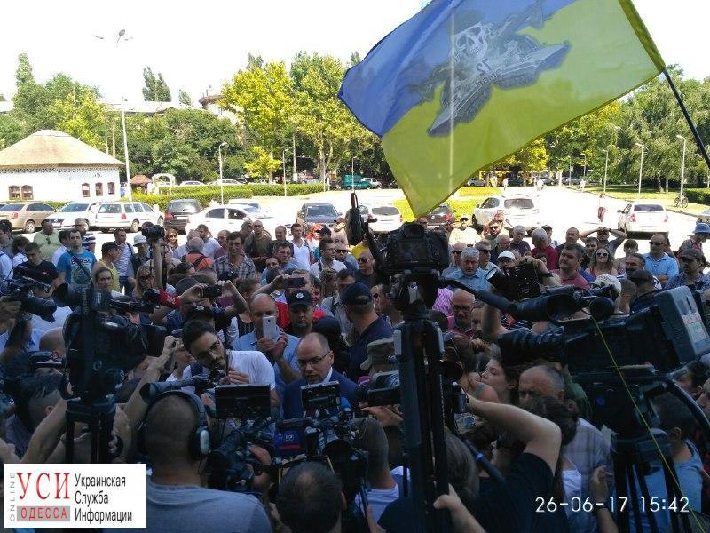 Активисты начали пикет одесской ОГА: требуют отставки прокурора области и расформирования «муниципалов» (фото) «фото»