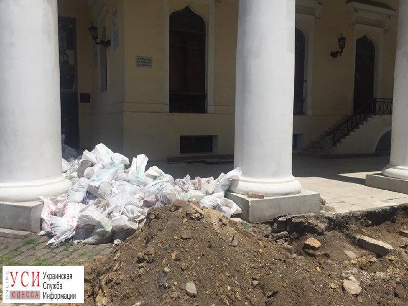 Во время реставрации Воронцовского дворца обнаружили мрамор с еврейского кладбища (фото) «фото»