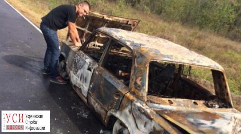 Пьяный житель Одесской области угнал автомобиль, а затем поджег его «фото»