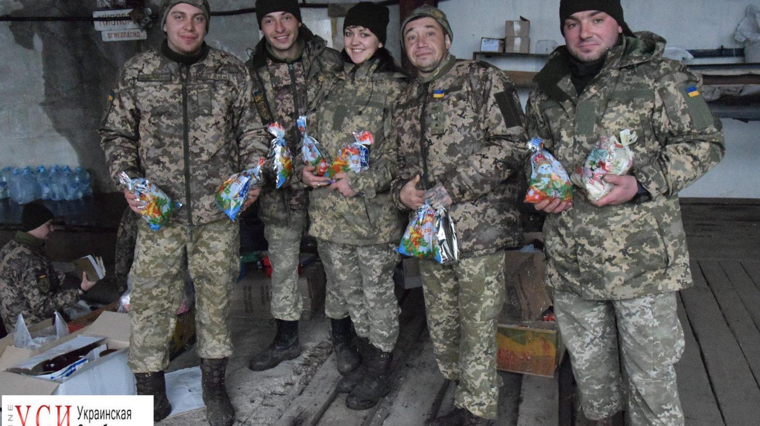 Бойцы одесской 28-й мехбригады получили подарки от львовских волонтеров (фото) «фото»