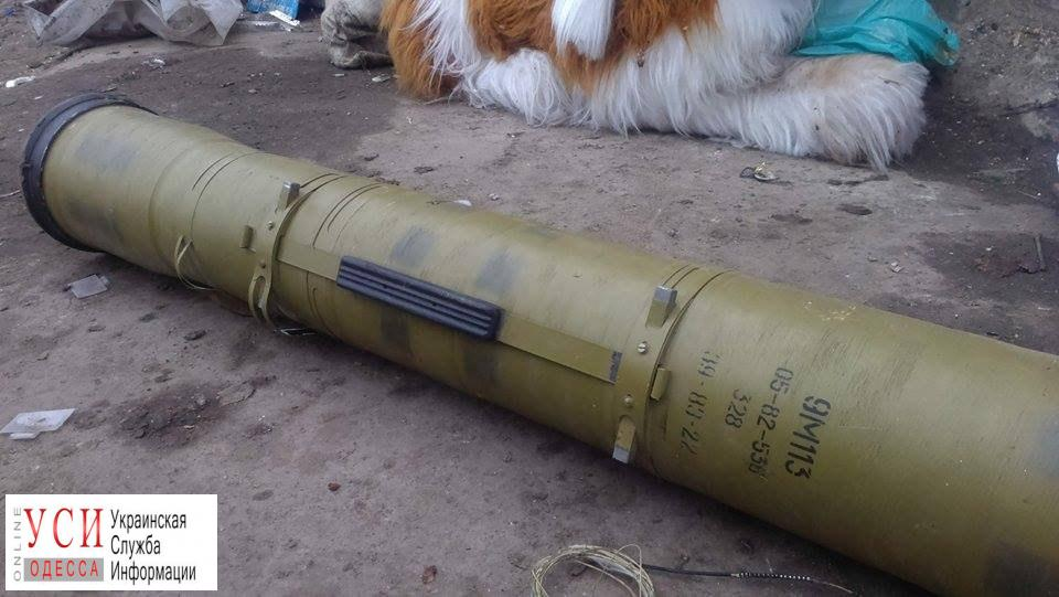 На поселке Котовского нашли корпус противотанковой ракеты «фото»