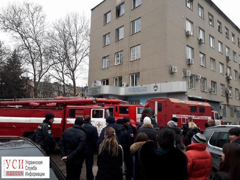 На Филатова горит управление полиции (фото) «фото»