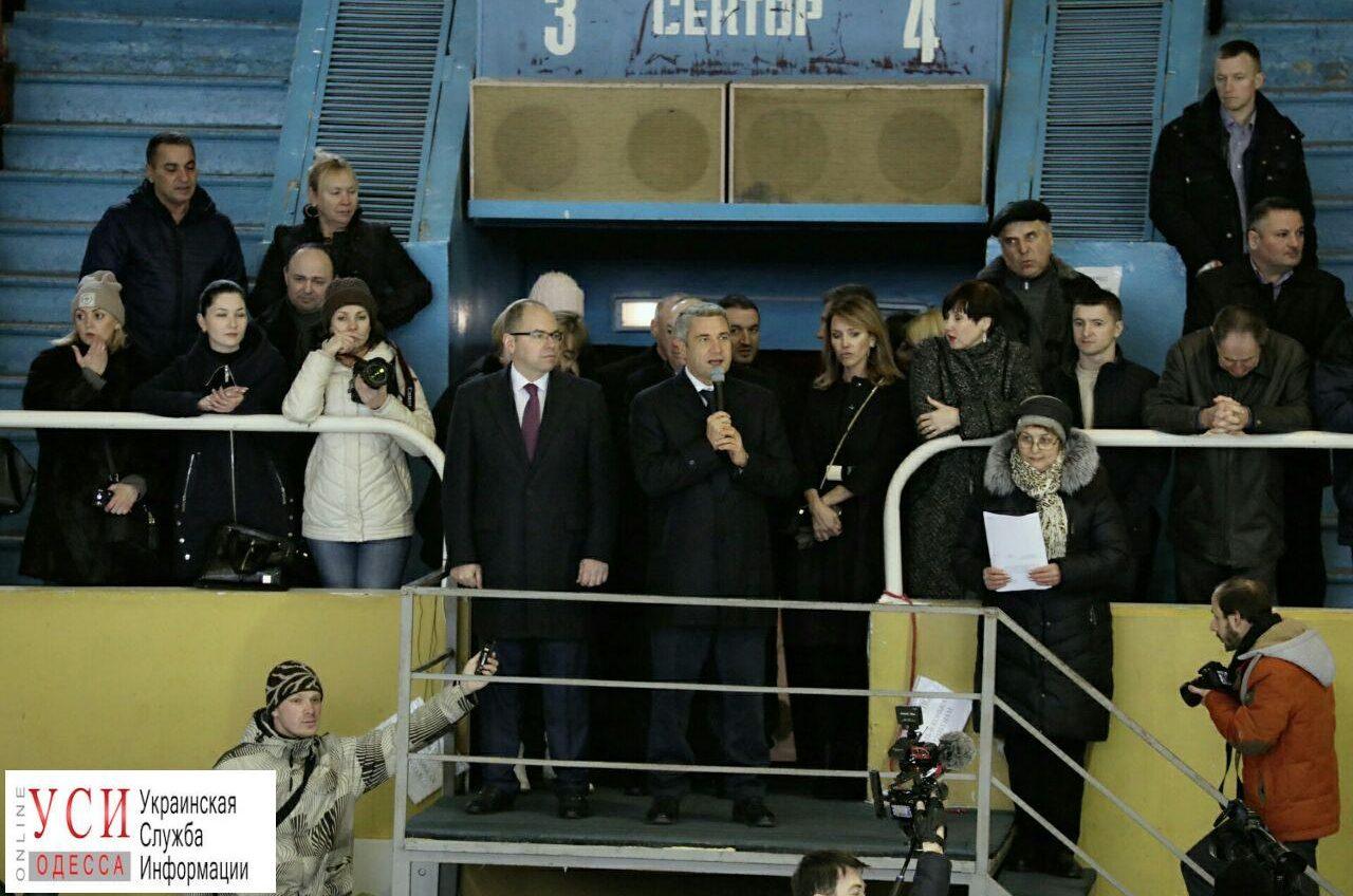 Во Дворце спорта подняли флаг в честь открытия Зимних Олимпийский игр (фоторепортаж) «фото»