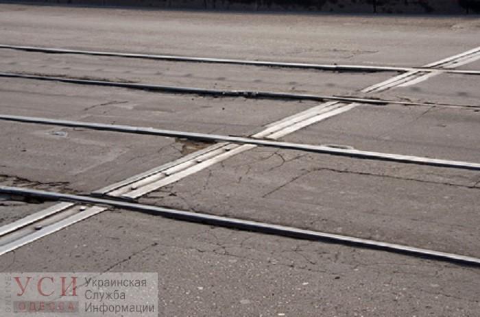 На поселке Котовского сошел с рельсов трамвай «фото»