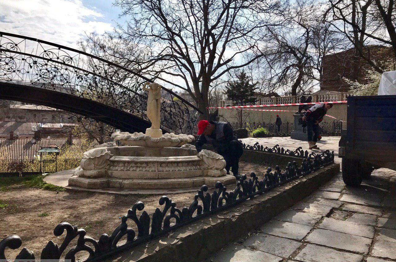 Фонтан и старинный колодец в «Уголке старой Одессы» восстановят за 180 тысяч гривен «фото»