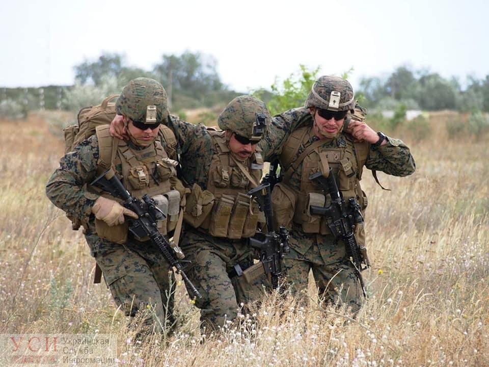 Американские морпехи учили украинских эвакуировать раненных с поля боя (фото) «фото»