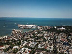 Пролетая над центром Одессы