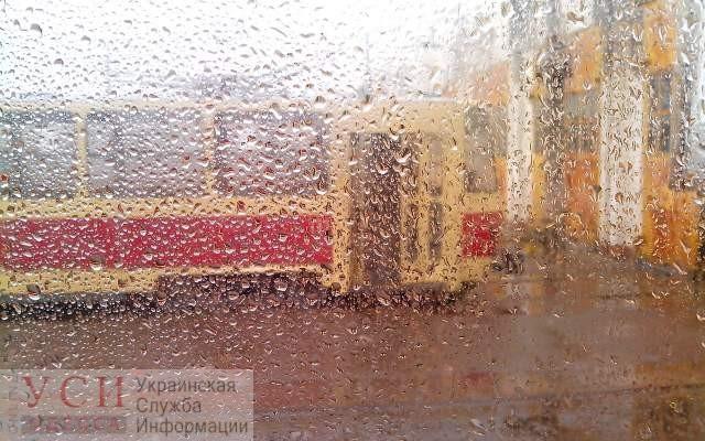 Непогода в Одессе остановила 7 трамвайных маршрутов «фото»