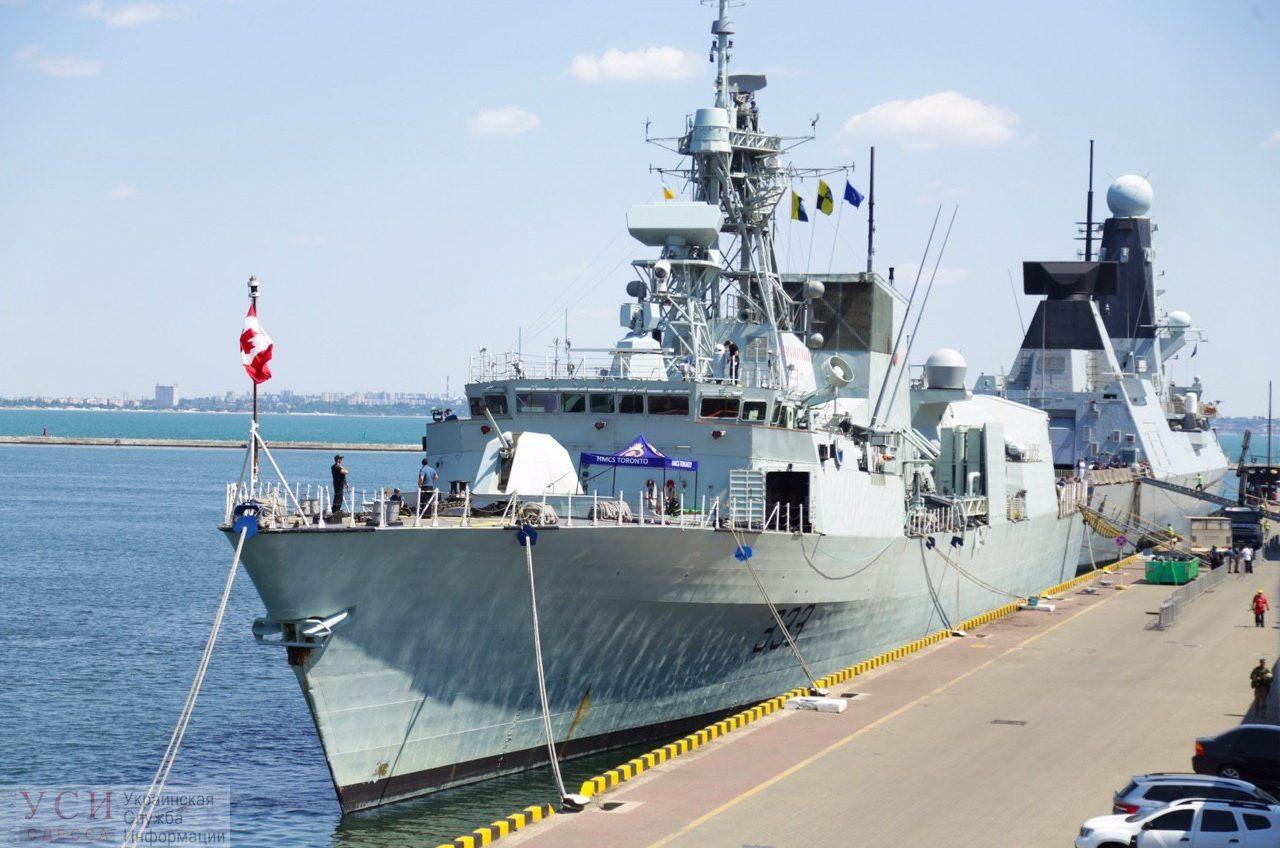 В Одесский порт вошли 3 военных корабля НАТО (фото, видео) «фото»