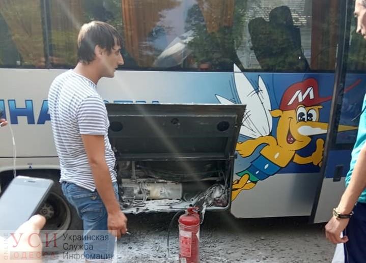 Автобус «Измаил – Одесса» загорелся во время движения «фото»