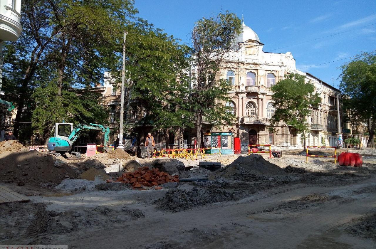 Реконструкция Софиевской в Одессе идет черепашьими темпами (фото) «фото»