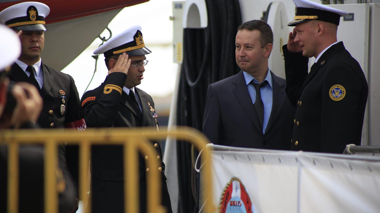 В Одессу впервые зашел корабль Береговой охраны Турции с неофициальным визитом (фото) «фото»