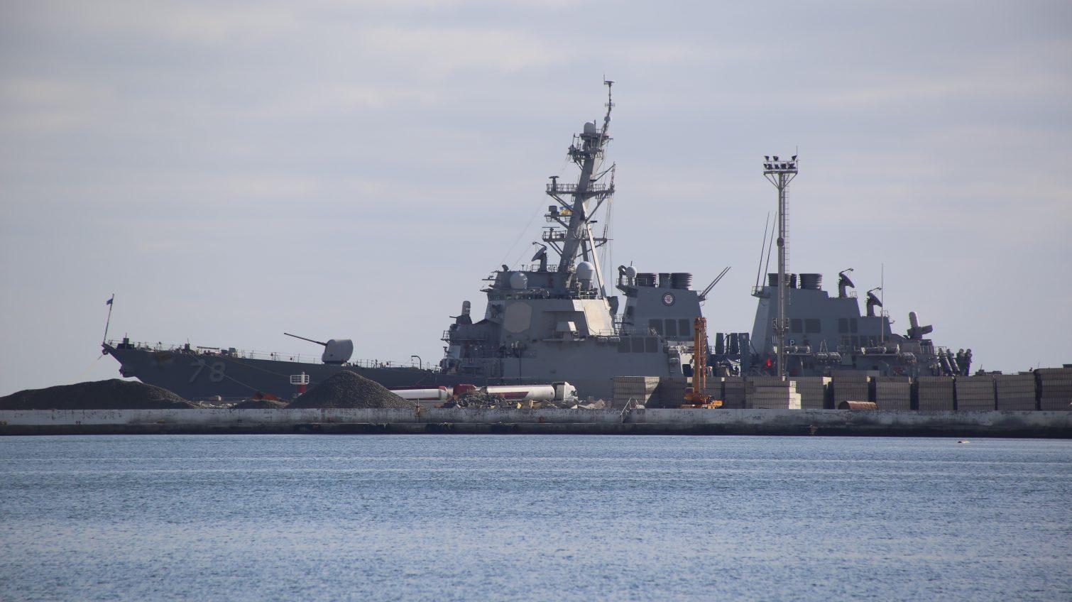 В порт Одессы зашел американский ракетный эсминец USS Porter (фото, видео) «фото»