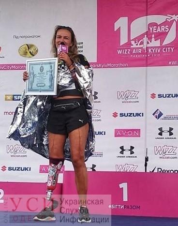 Одесситка Татьяна Воротилина установила рекорд Украины, пробежав 42 километра с робо-протезом (фото) «фото»