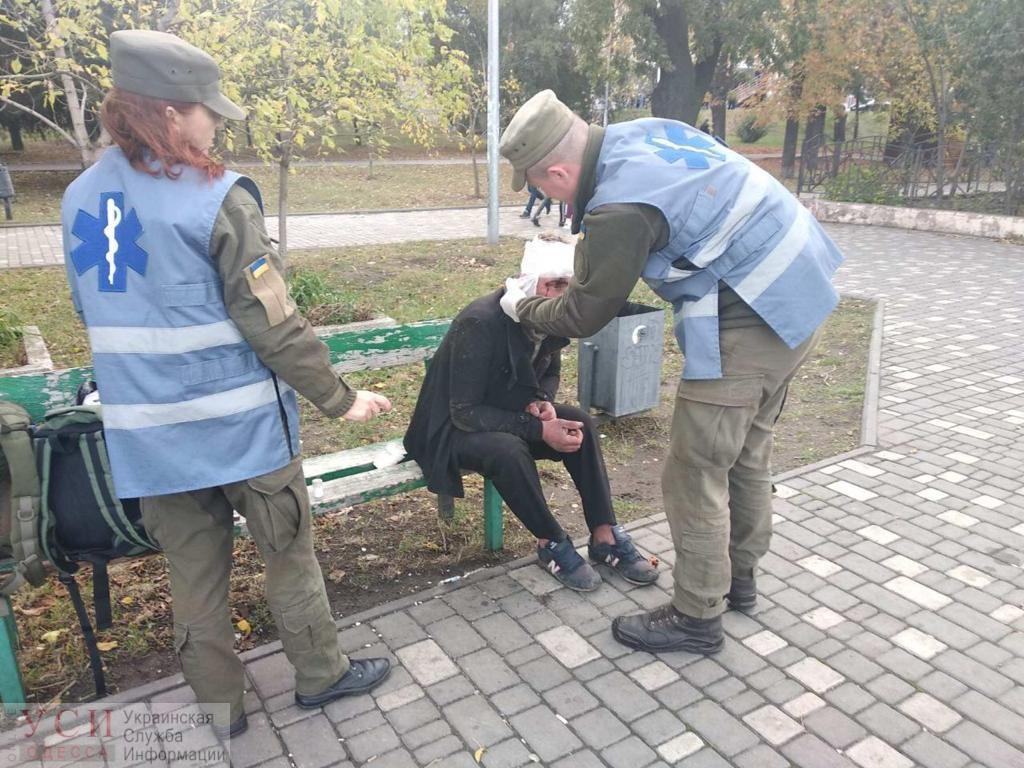 Во время матча на стадионе «Черноморец» на одессита напали неизвестные (фото) «фото»
