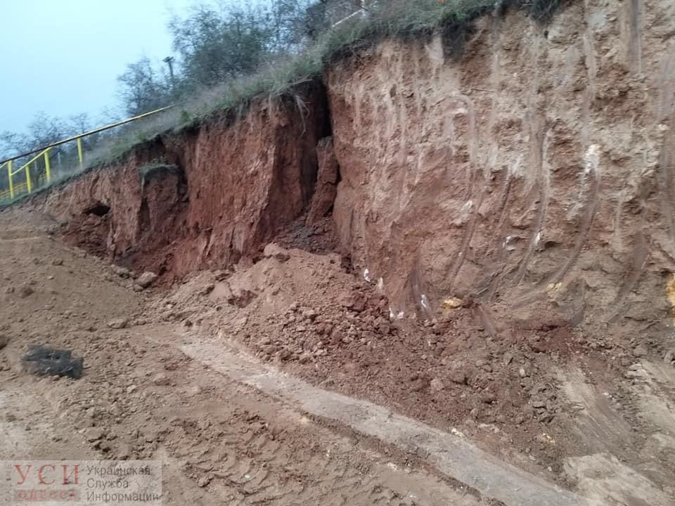 Строительство на 13-й Фонтана вызвало обрушение склона (фото, документ) «фото»