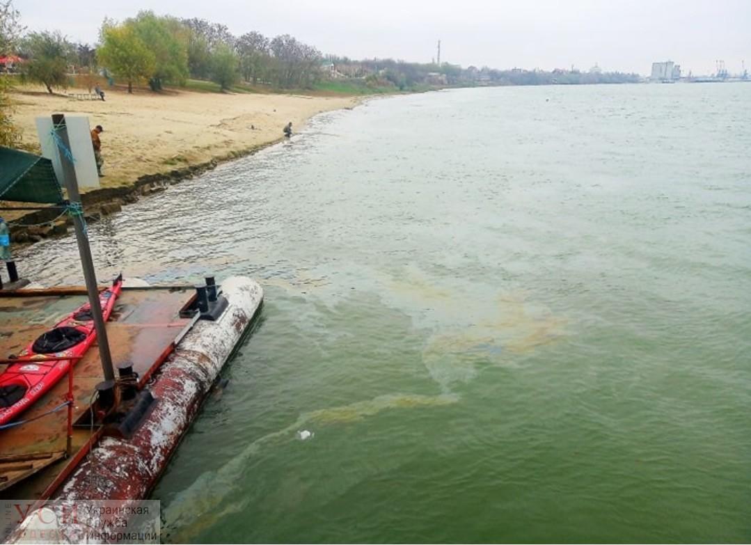 В Измаиле на Дунае ликвидировали большое нефтяное пятно: виновником может быть старое судно «фото»