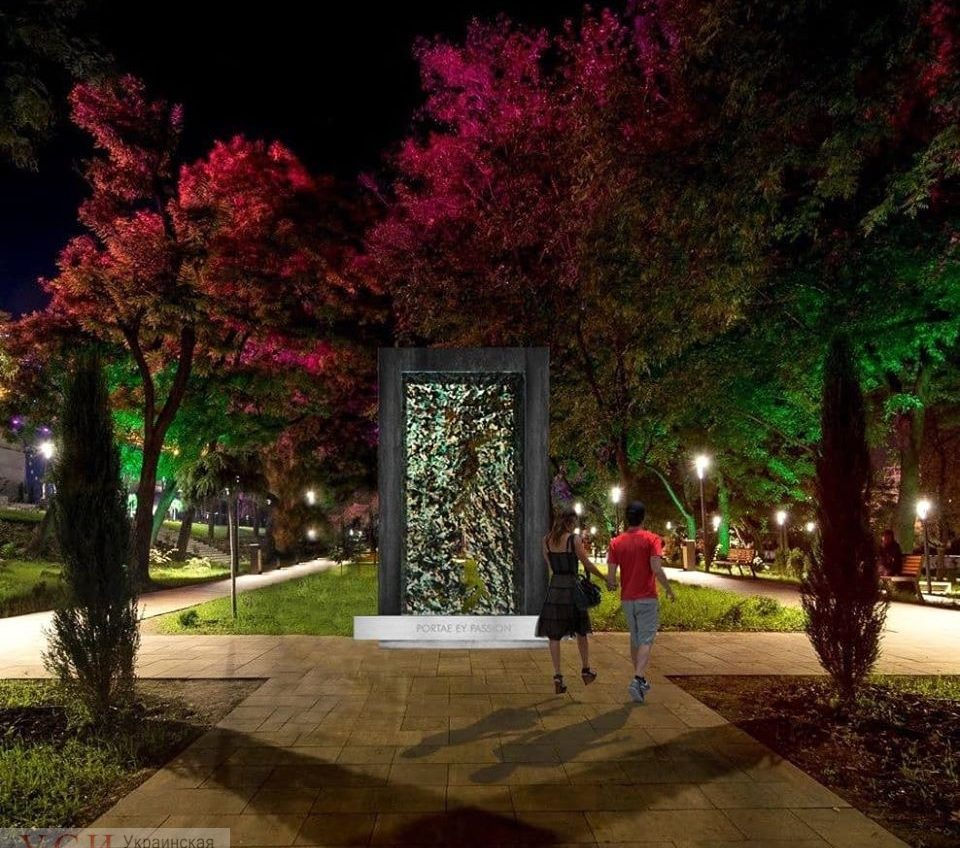 Одесский скульптор хочет установить в Греческом парке большой арт-объект «Врата страстей» «фото»