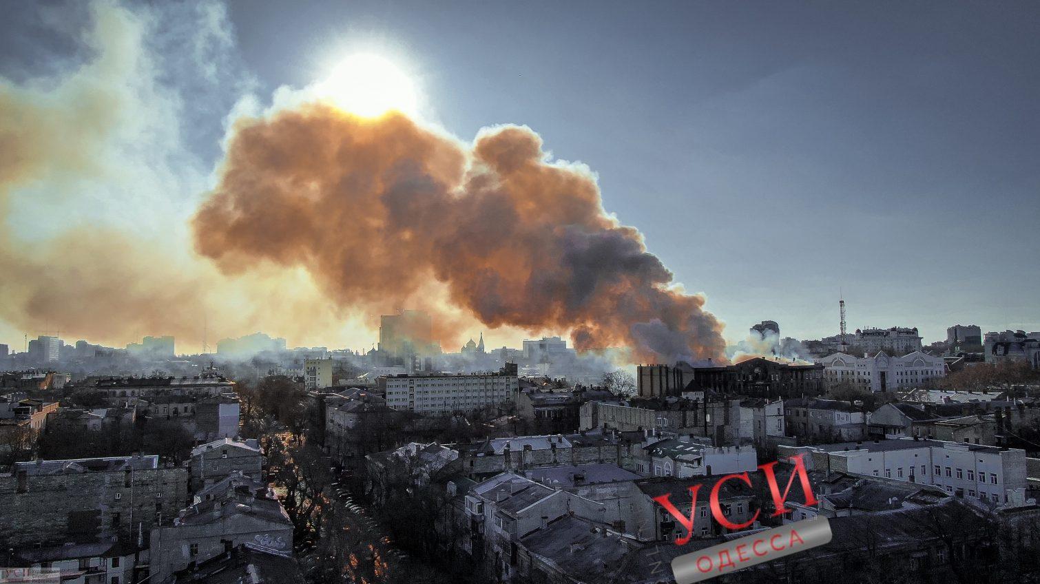 Опровержение: в результате пожара в центре Одессы умерла одна женщина «фото»