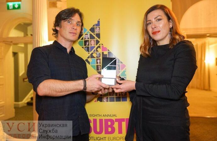 Актер Киллиан Мерфи вручил генпродюсеру ОМКФ награду на ирландском фестивале «фото»