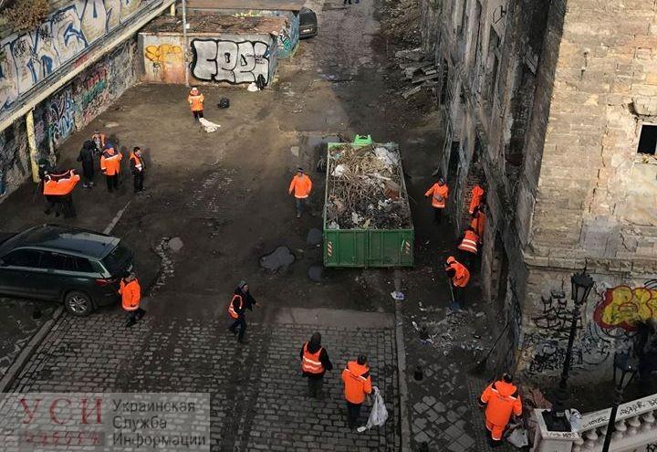 Самую позорную улицу центра города расчистили от мусора (фото) «фото»