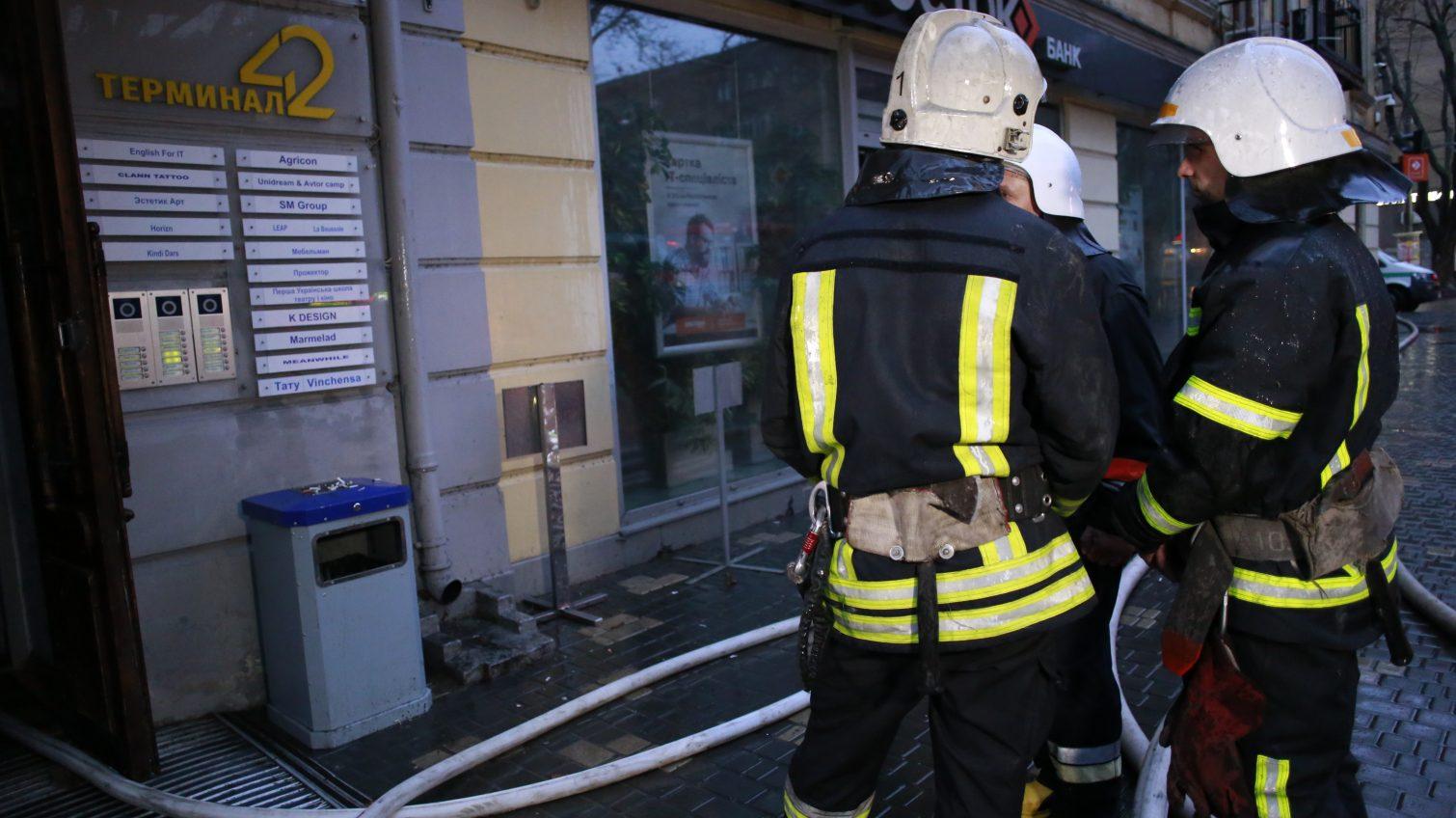 На Ришельевской горел дом: эвакуировали конференц-зал и концертную площадку (фото) «фото»