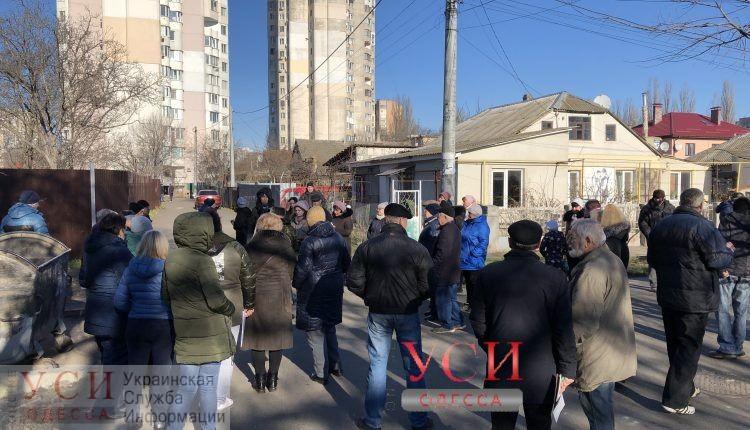 На Таирова протестуют против очередной стройки: посреди частного сектора вырастут высотки «Пространства» (фото, видео, карта) «фото»