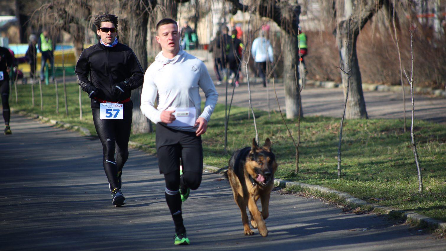 200 спортсменов и собака: в Одессе прошел зимний забег (фоторепортаж) «фото»