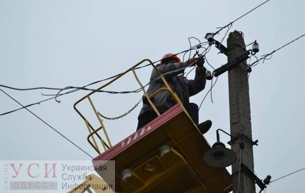 Из-за урагана некоторые жители Одесской области остались без электричества «фото»