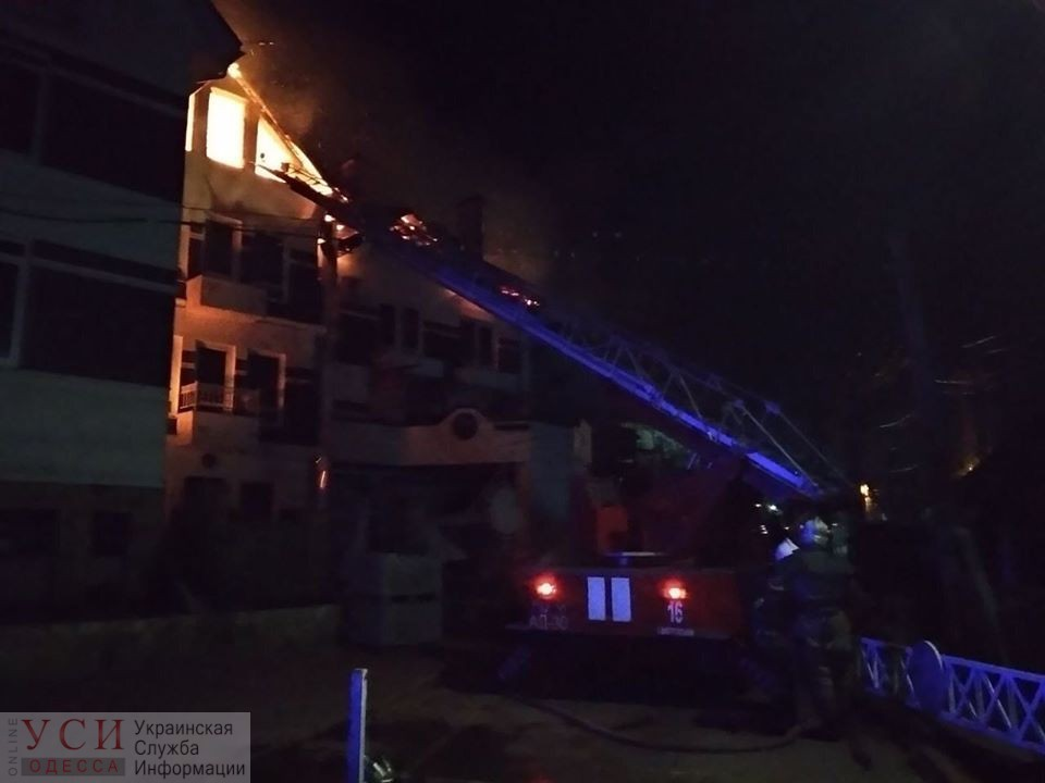 В Затоке горит база отдыха (фото, видео) ОБНОВЛЕНО «фото»